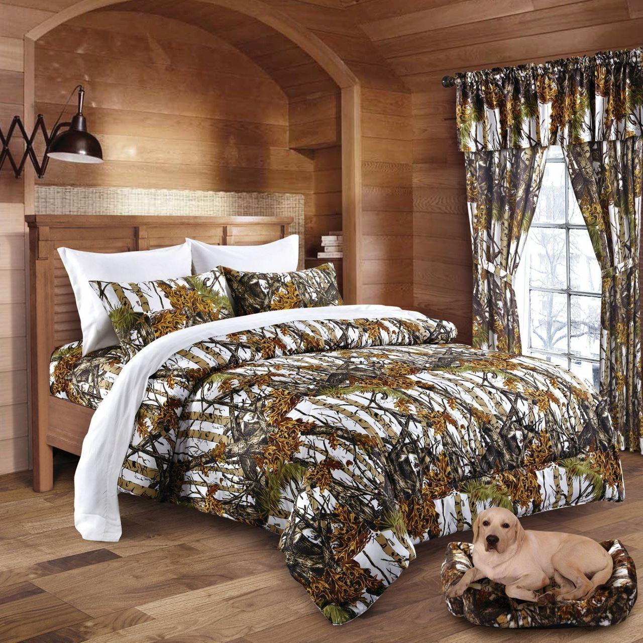 Snow Camo Bed In A Bag Set Swamp24