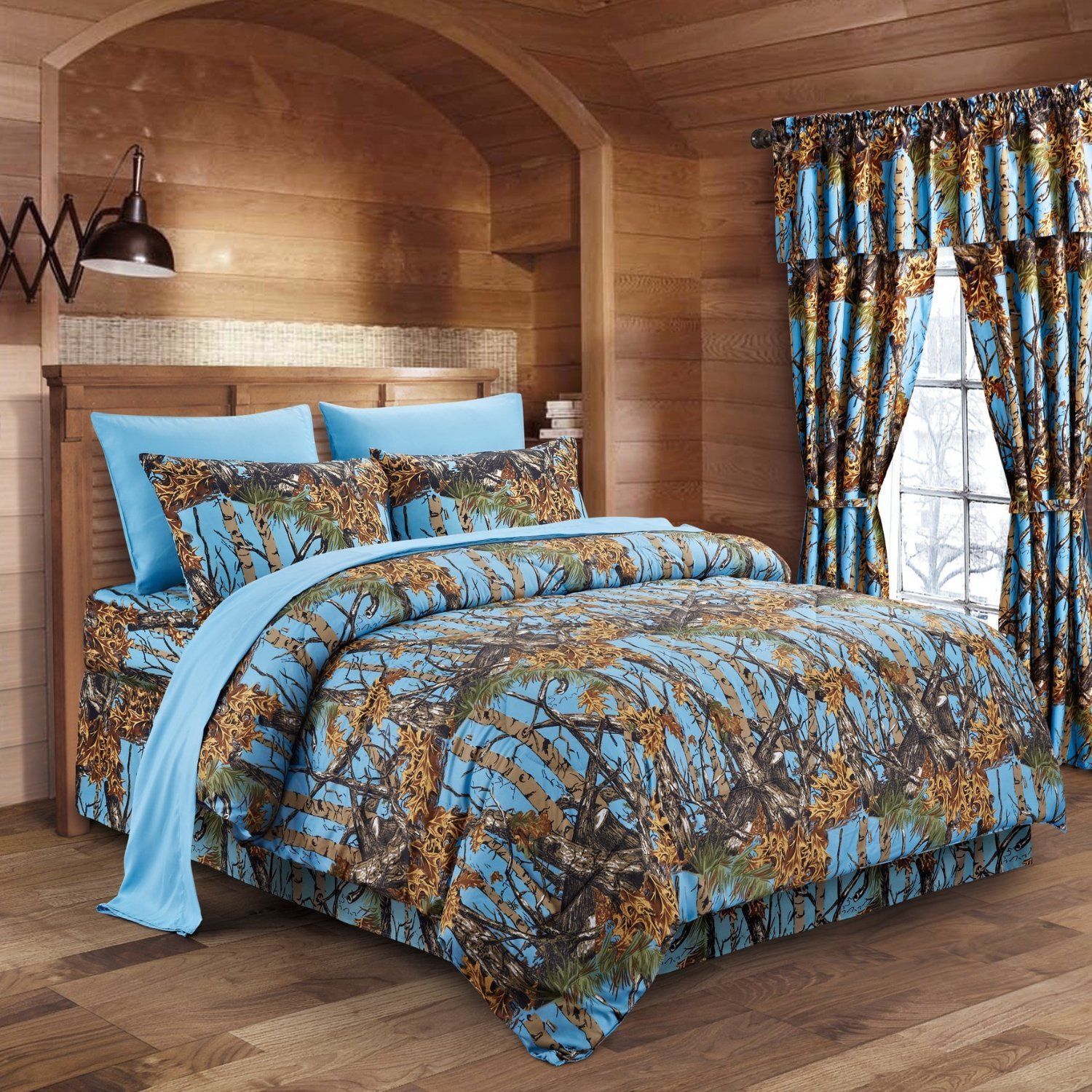 Powder Blue Camo Bed In A Bag Set The Swamp Company